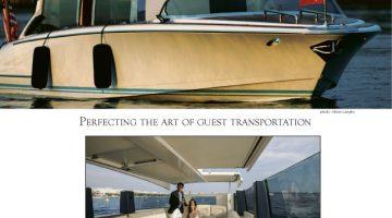 Magazine advertisement, high end luxury yacht builder