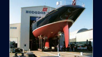 Magazine advertisement high end luxury yacht builder