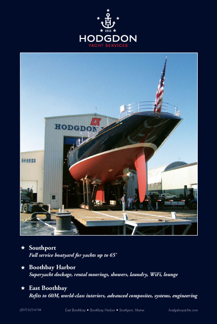 Magazine advertisement high end luxury yacht builder
