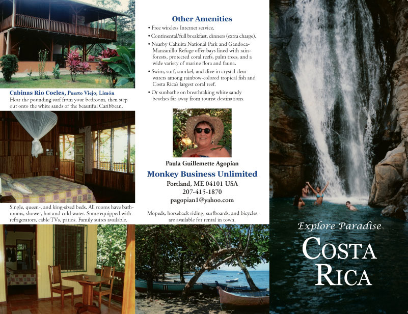Brochure for independent travel guide