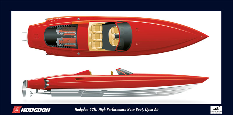 Large Format Poster for Hodgdon Yachts racing boat