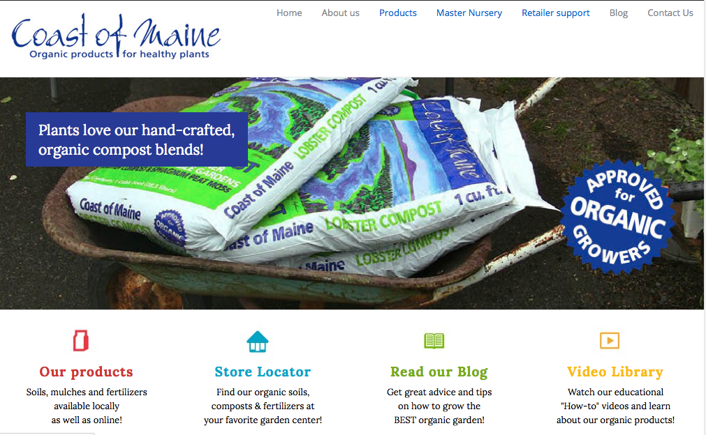 Coast of Maine Organic Products creates organic soils, composts and fertilizers