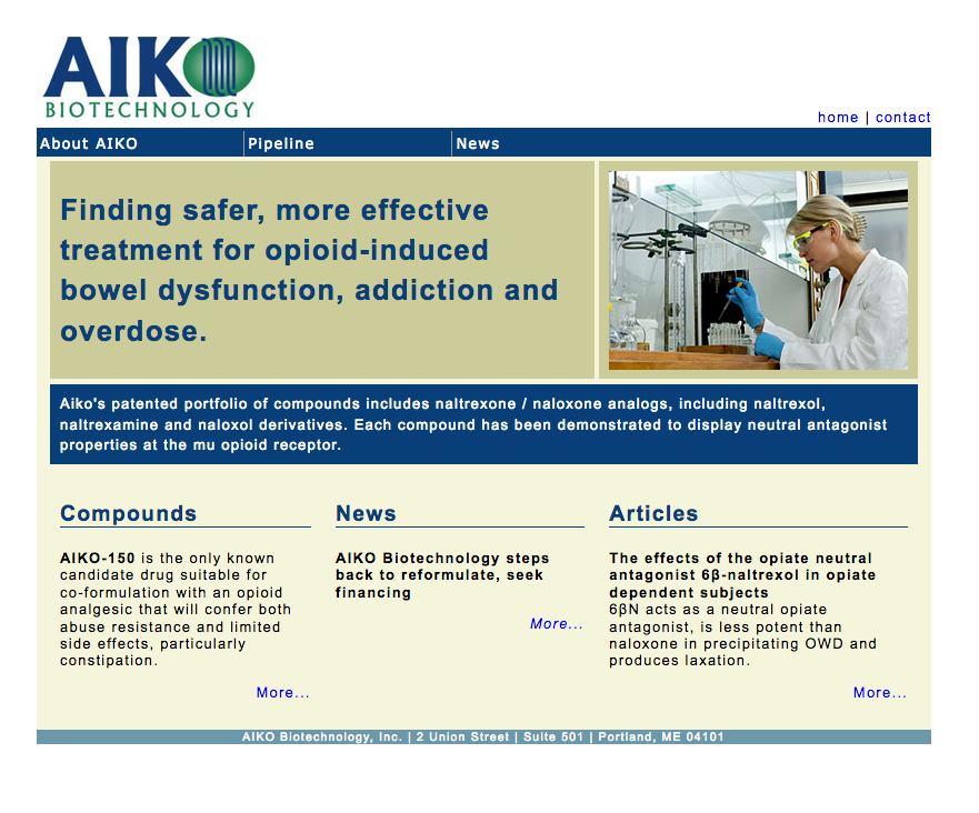 Aike Biotechnology works on options for opioid-induced bowel dysfunction, addition and overdose