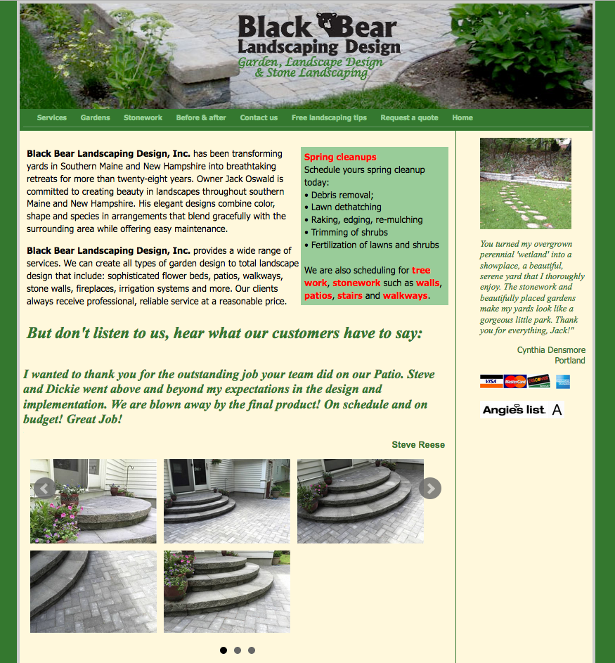Black Bear Landscaping Design, landscaper, commercial