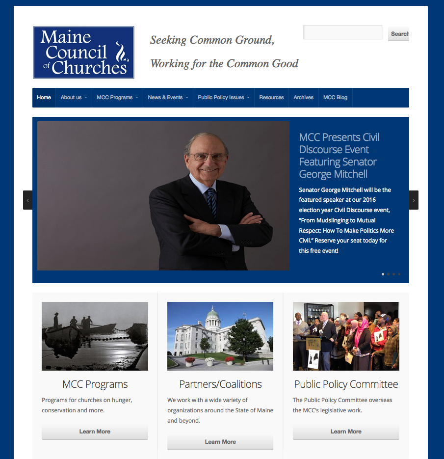 Maine Council of Churches, non-profit organization, religious