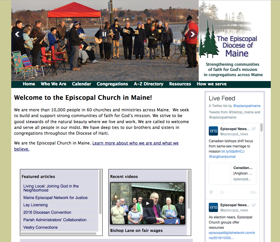 The Episcopal Diocese of Maine, religious, non-profit organization, a-z index