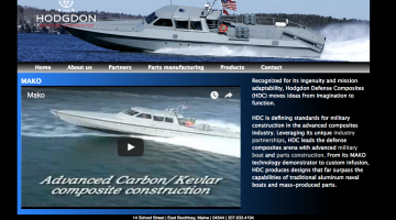 Hodgdon Defense Composites, military watercraft