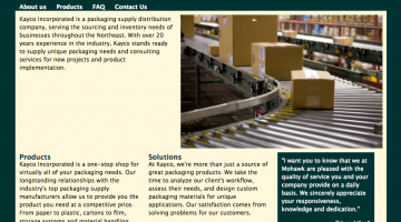 Kayco Inc. is a supplier of integrated packaging services