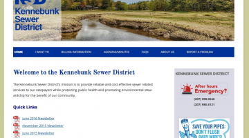 Kennebunk Sewer District, municipal organization, trouble ticket system, help desk