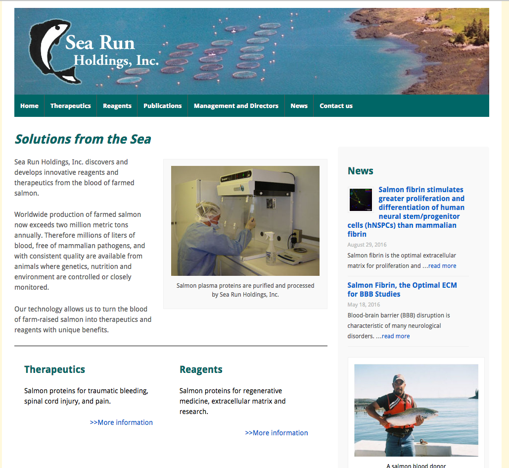 Sea Run Holdings, bio technology, science, startup