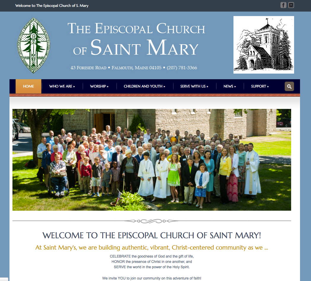 Saint Mary Episcopal Church, a religious website