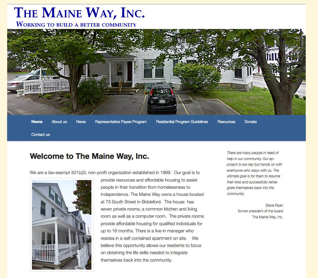 The Maine Way, Inc. non-profit organization