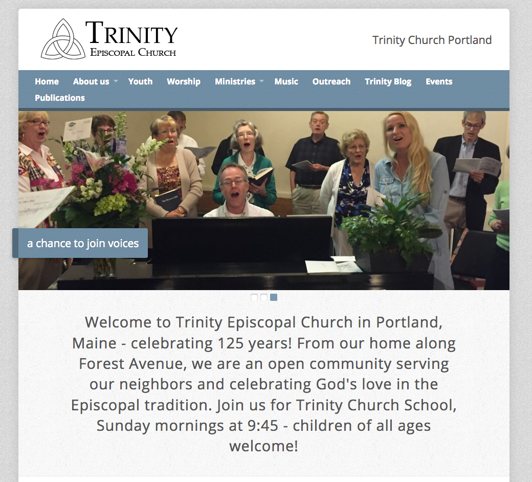 Trinity Episcopal Church a religious website