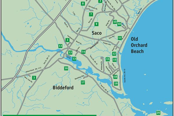 Trailhead locator map
