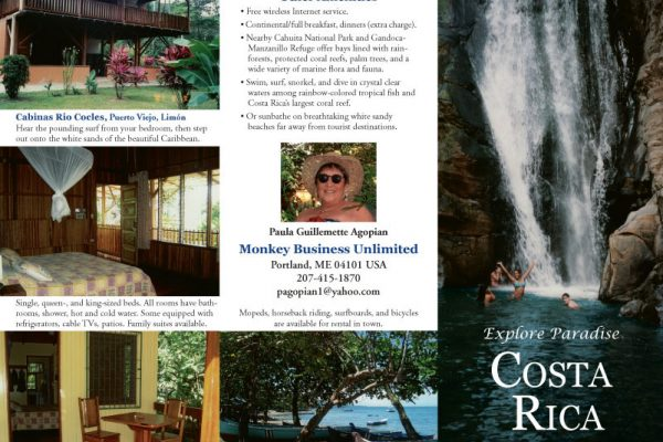 Brochure, travel company